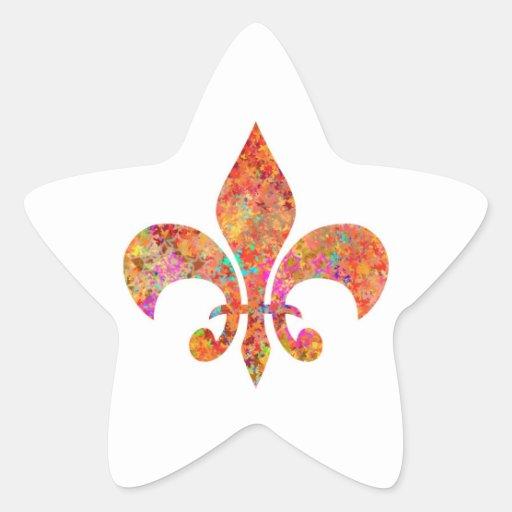 Flor de lis do desenhista adesivo estrela