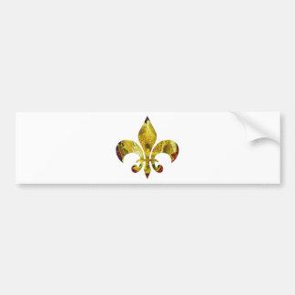 Flor de lis dourada;   Série de ZazzleRocks Adesivo