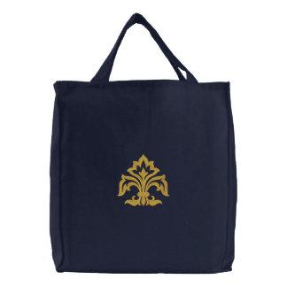 Flor de lis bolsas para compras