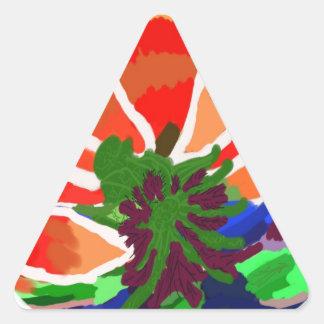 Flor de LOTUS - abstrato artístico Adesivo Em Forma De Triângulo