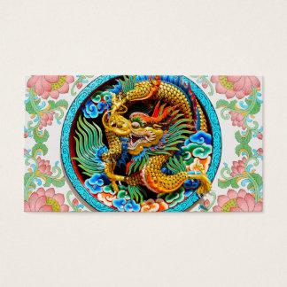 Flor de lótus colorida chinesa legal da pintura do cartão de visitas