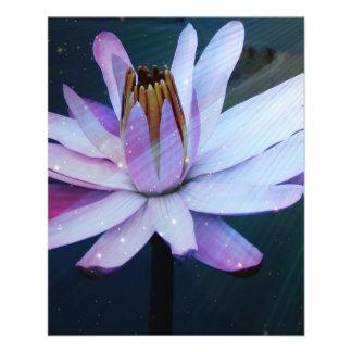 Flor de Lotus Modelo De Panfletos