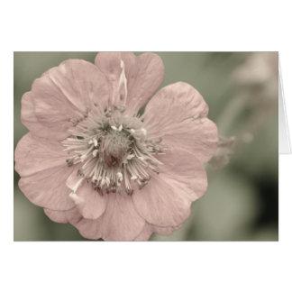 Flor desvanecida cartão comemorativo