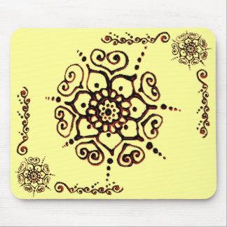 Flor do amor (Henna) (laranja) Mouse Pad