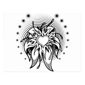 Flor do coração cartão postal