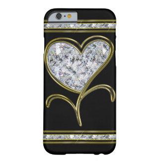 Flor do coração do diamante & do ouro