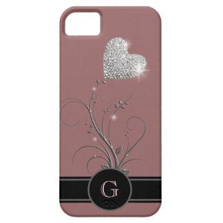 flor do coração para adicionar a inicial conhecida capas para iPhone 5