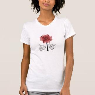 Flor do coração camiseta