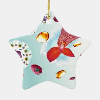 Flor do fogo ornamento de cerâmica estrela
