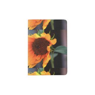 Flor do girassol capa para passaporte