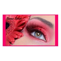 flor do pêssego do maquilhador dos cosméticos cartão de visita