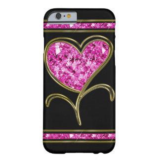 Flor do rosa do diamante & do coração do ouro