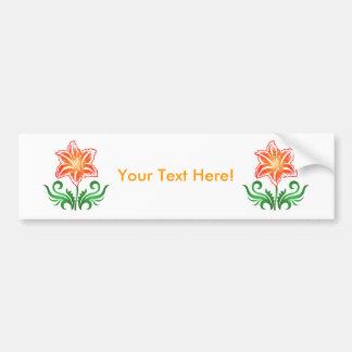 Flor do vetor: adesivo para carro