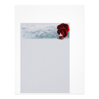 Flor e artigos de papelaria da vela flyer 21.59 x 27.94cm