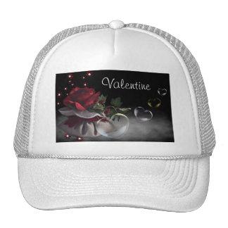 Flor e chapéu dos corações boné
