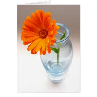 Flor e vaso cartão comemorativo