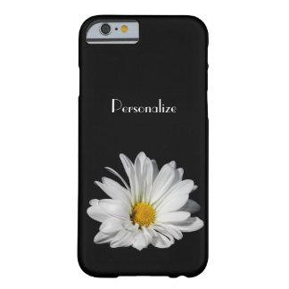 Flor elegante da margarida branca com nome capa barely there para iPhone 6