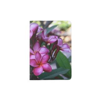 Flor exótica, suporte do passaporte capa para passaporte