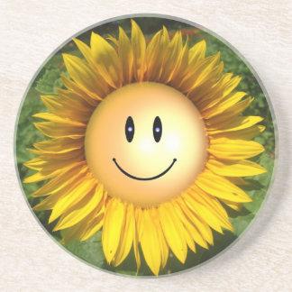 Flor feliz da luz do sol porta copos