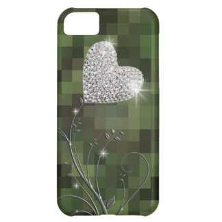 flor feminino do amor do coração capa para iPhone 5C