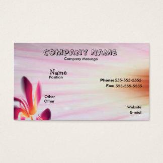 Flor floral cartão de visitas