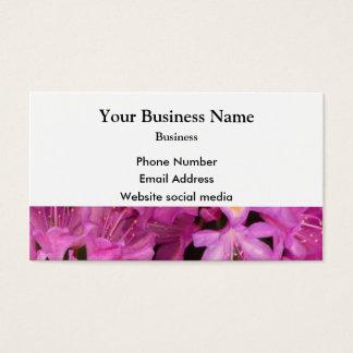 Flor floral cor-de-rosa bonito cartão de visitas