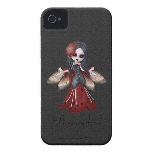Flor gótico bonito Blackberry feericamente corajos Capa iPhone 4