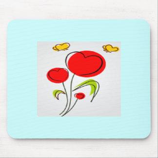 Flor Mousepad do coração