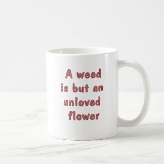 Flor não-querido caneca