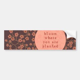 Flor onde você é plantado adesivo para carro