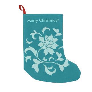 Flor oriental - Feliz Natal - verde Bota De Natal Pequena