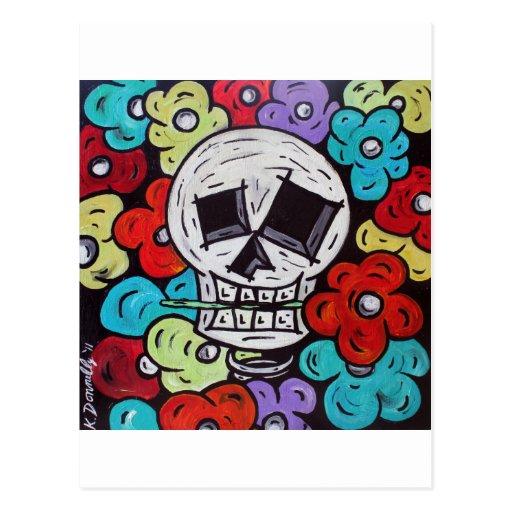 Flor para você - Diâmetro De Los Muertos Cartao Postal