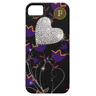 flor personalizada do coração do amor capa barely there para iPhone 5