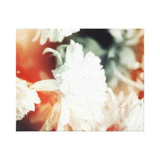 Flor preto e branco impressão de canvas esticadas