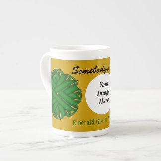 Flor Rbn Tmpl do verde esmeralda por Kenneth Xícara De Chá