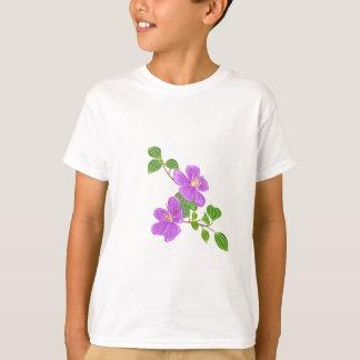 Flor roxa da grama camisetas