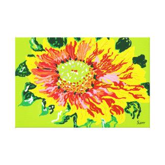 Flor selvagem do envoltório das canvas