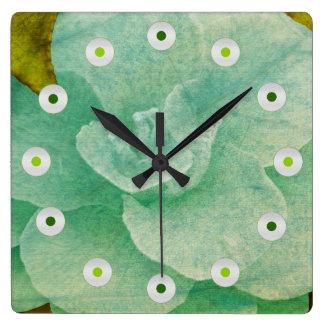 Flor Textured por Shirley Taylor Relógio Quadrado