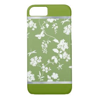 Flor verde capas de iphone modeladas do design do