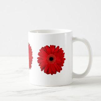 Flor vermelha caneca