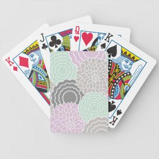Floral abstrato baralhos para pôquer