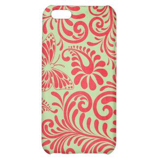floral abstrato capas para iphone 5C