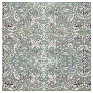 Floral abstrato Funky modelado Tecido