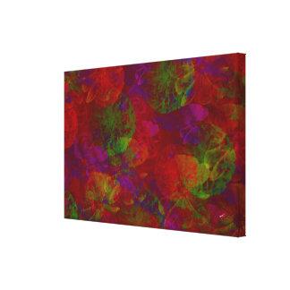 Floral abstrato impressão em tela