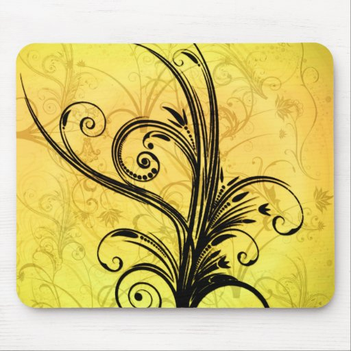 Floral abstrato mousepad