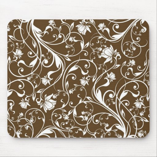 Floral abstrato mouse pad