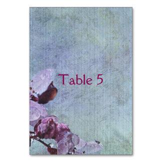 Floral azul bonito cartão