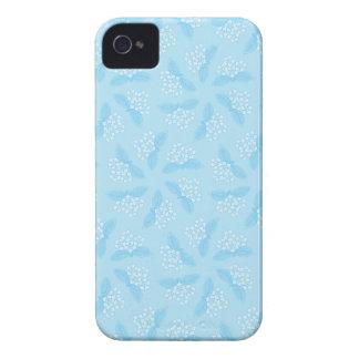 Floral azul feminino capa para iPhone