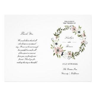 Floral bonito - programa do casamento flyer 21.59 x 27.94cm