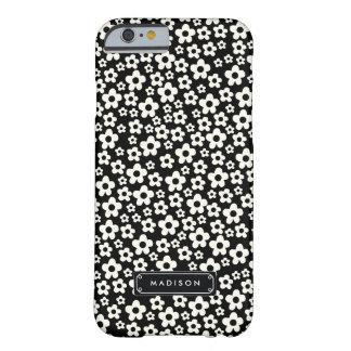 Floral branco preto da modificação do chique capa barely there para iPhone 6
